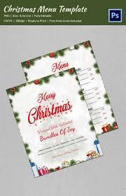 35 christmas menu template free sample example format download