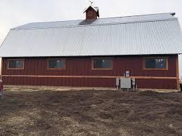 corrugated metal barn build