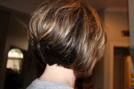 pictures of stacked haircuts back and front layered bob hairstyles back view women medium haircut