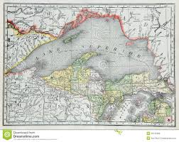 Map Of Lower Michigan by Old Map Of Upper Michigan Royalty Free Stock Photos Image 20145488