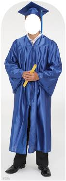 blue cap and gown graduate blue cap and gown stand in 900