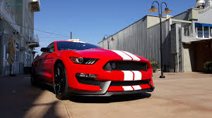 Black Mustang Red Stripes 2016 Ford Shelby Gt350 Mustang First Drive U2013 Golden Pony Slashgear