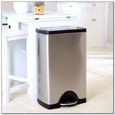 Kitchen Trash Can Ideas Awesome Tall Kitchen Trash Can Home Design Ideas Photo In Tall