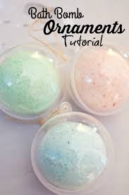 make your own bath bomb ornaments tutorial