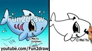 how to draw easy how to draw a shark draw animals fun2draw