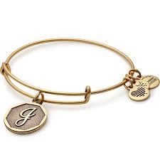 initials bracelet initial bracelets letter j charm alex and ani
