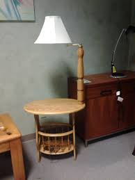 awesome wood end table with lamp attached house design