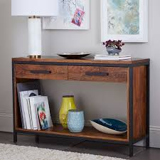wood and metal console table with drawers modern wood and metal console table console table wood and metal