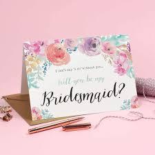 will you be my bridesmaid card will you be my bridesmaid card watercolour selena eivissa