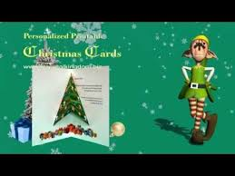 3d popup christmas tree card tutorial youtube