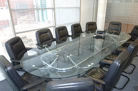 Glass Boardroom Tables Glass Boardroom Table With 12 Leather Chairs