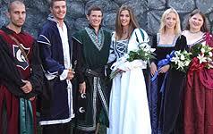 renaissance tudor elizabethan wedding gowns celtic period wedding