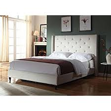 Full Platform Bed With Headboard Amazon Com Home Life Black Leather 47