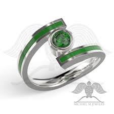 green lantern wedding ring green lantern with green and enamel ring band custommade