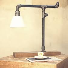 steel pipe lamp with lampshade gie el