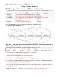 ecology worksheet worksheets