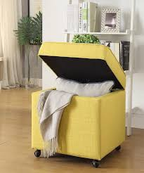 ottomans yellow storage ottoman yellow tufted ottoman amazon with