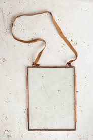 glass u0026 copper photo frame clear glass leather hanger 6 x 8 inches