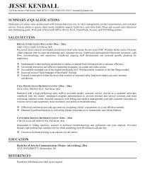 Customer Service Resume Summary Examples Resume Summary Example Resume Summary Example Career Writing A