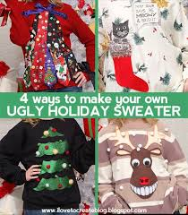 4 ways to make your own sweater ilovetocreate