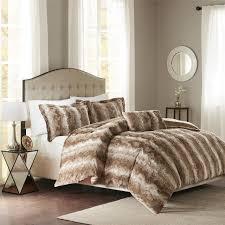 madison park zuri faux fur duvet cover set ebay