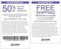 joanns coupon app pinned october 27th 50 a single item more at joann fabric