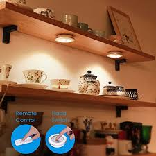 battery powered puck lights amir wireless night light 5 led 3 packs remote control cabinet