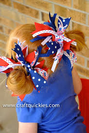 fourth of july hair bows firecracker bows