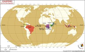 map of equator which countries lie on the equator answers