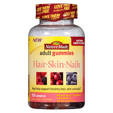 nature made hair skin nails gummies mixed berry cranberry