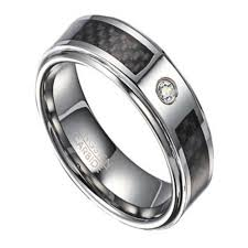 men promise rings men s tungsten wedding band with single cz 8mm width
