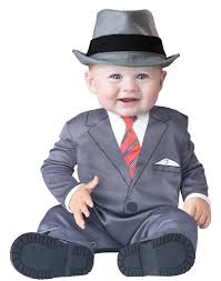 6 Month Boy Halloween Costume Baby Business Mobster Infant Gangster Baby Boy Costume 6