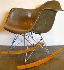 eames shell chair rocker zenith w x base fiberglass rare eames