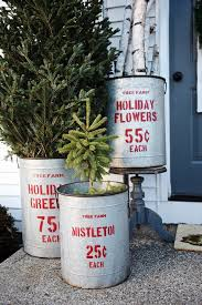 Vintage Metal Christmas Decorations by Vintage Buckets Could Easily Be Used In Your Next Rustic Holiday
