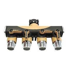 kitchen faucet splitter amazon com 4 way valve splitter hose adapter spigot faucet