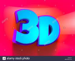 3d word logo cartoon fun and futuristic style stock photo