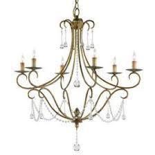 Crystal And Gold Chandelier Six Light Crystal Accents Gold Chandelier