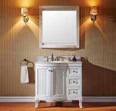 36 In Bathroom Vanity With Top Virtu Usa 36 Inch Khaleesi Round Sink Vanity In White