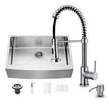 Chrome Kitchen Sink Vigo 33 Inch Farmhouse Apron Single Bowl 16 Stainless Steel
