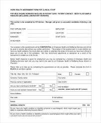 45 sample health assessment form