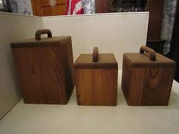 ebay kitchen canisters set of 3 oak kitchen canisters ebay canisters
