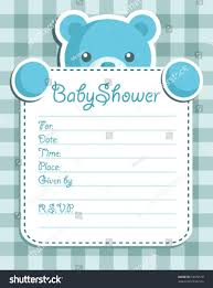 baby boy shower invitation stock vector 63635518 shutterstock
