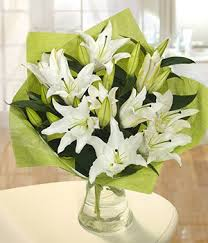 white lilly stunning white bouquet send flowers online
