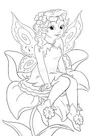 flower fairy coloring stock illustration image 50908603