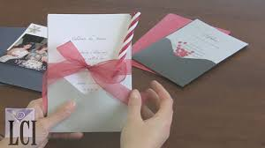 make your own pocket card invitations for