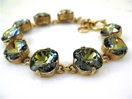 bracelet color crystal images La vie parisienne by catherine popesco large stone gold crystal jpg