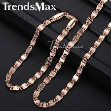 wholesale jewelry necklace images Trendsmax rose gold filled snail link chain womens mens chain jpg
