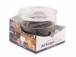 airscape kitchen canister airscape glass 32 oz coffee container espresso planet canada