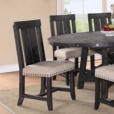 Solid Oak Dining Room Sets by Modus Yosemite 7 Piece Oval Dining Table Set With Mixed Chairs 4