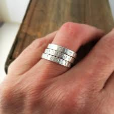 stacking name rings sterling silver stacking name ring justjaynes sted jewelry